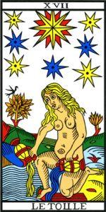 Image de la carte Etoile du Tarot
