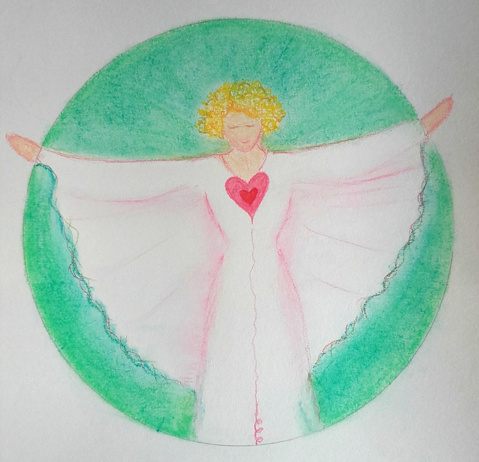 Illustration de chakradance du coeur